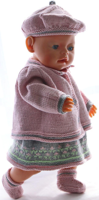 18 inch doll dress knitting pattern | Baby born | Pinterest ...