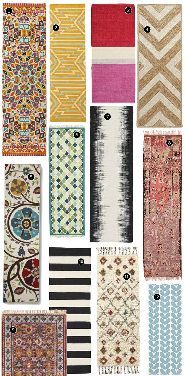 12 Fun Patterned Runners The Interior Collective Rugs Hallway Decorating Rugs On Carpet