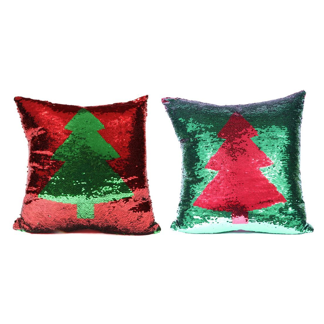 Photo of Christmas Tree Reversible Sequin Pillow
