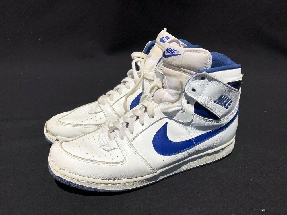 Vintage Nike Convention Shoes High Top Size 10 White Royal Blue As Is Og 1980s Nike Basketballshoes Vintage Nike High Top Basketball Shoes High Top Shoes