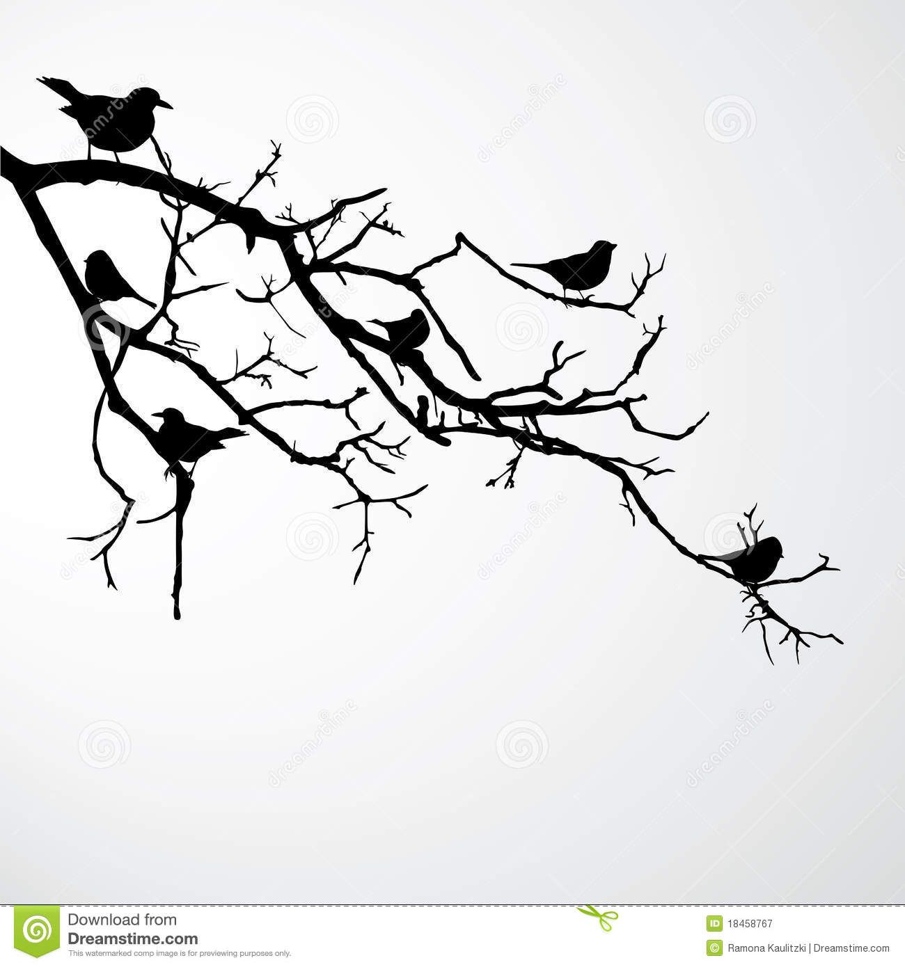 Bird In Tree Silhouette Google Search Drawing Ideas