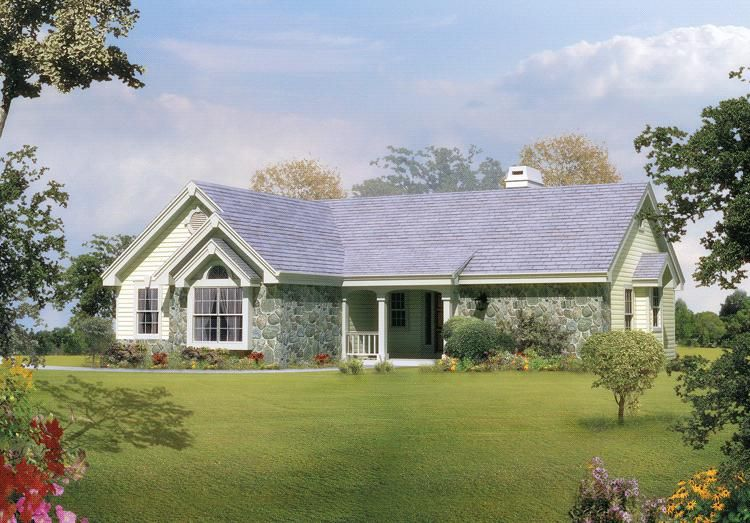 House Plan 5633 00109 Traditional Plan 1 248 Square Feet 2 Bedrooms 1 5 Bathrooms Ranch Style House Plans Ranch Style Homes Cottage House Plans