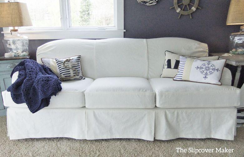 Pleasing White Denim Slipcover For Art Van Scarlett Sofa White Creativecarmelina Interior Chair Design Creativecarmelinacom
