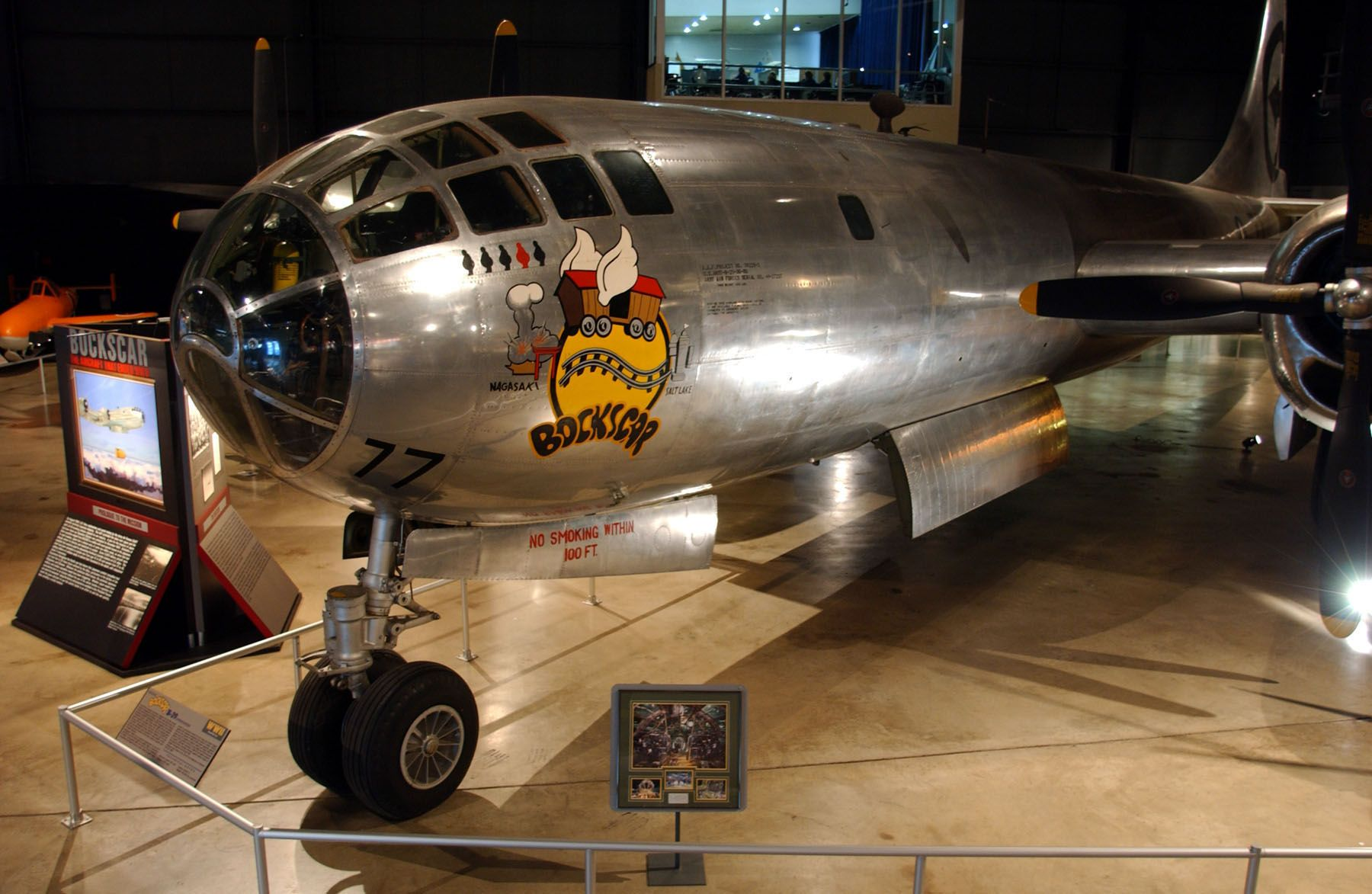 "enola gay bocks car essay ""fat man,"" dropped by ""bock's car,"" was a uranium-235 bomb, even though it did  less damage than hiroshima, the seaport of nagasaki still was torn to pieces."