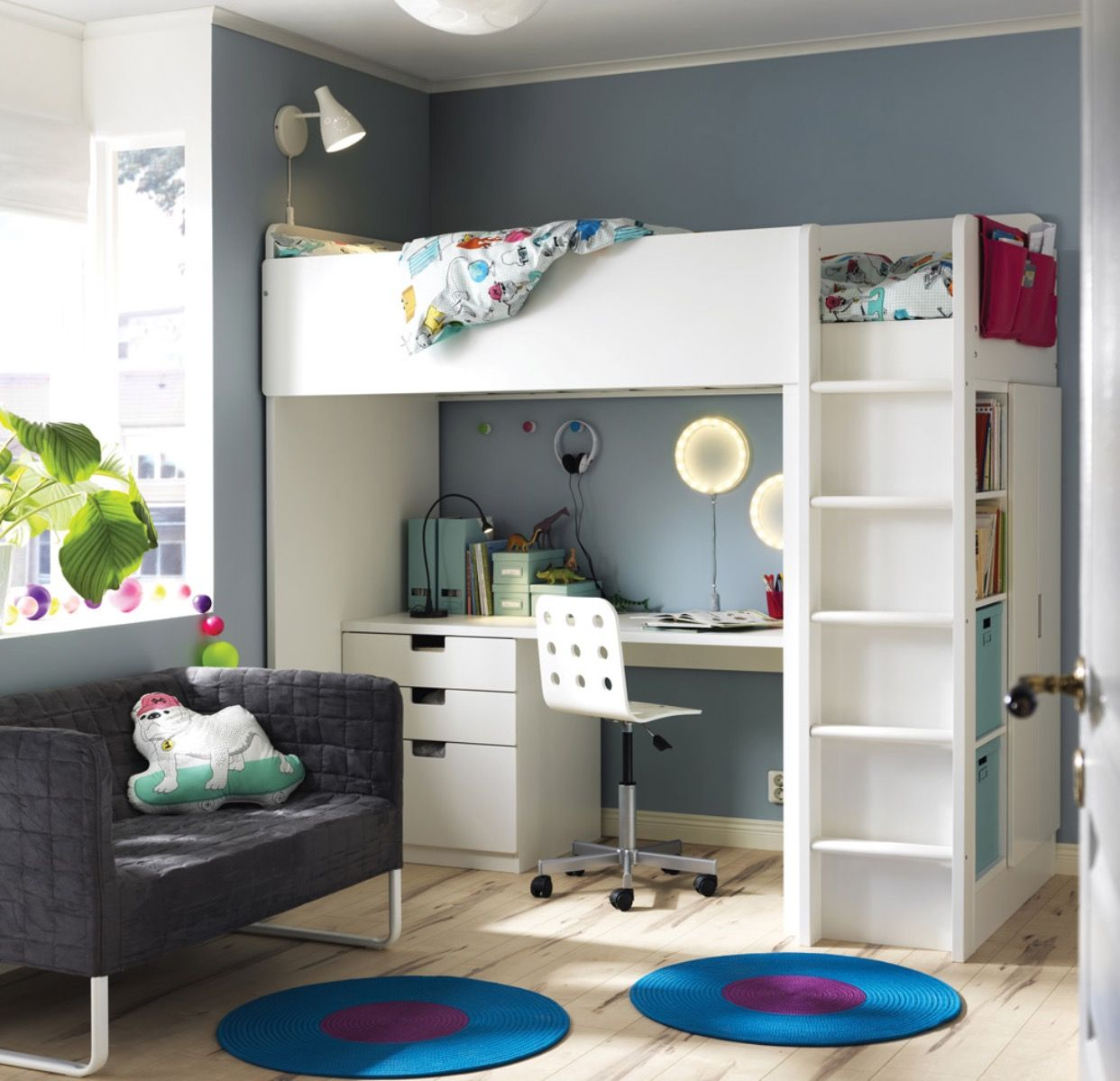 Stuva Lit Kids Bedroom Boy Room Kids Bedroom Stuva Loft Bed Bedroom