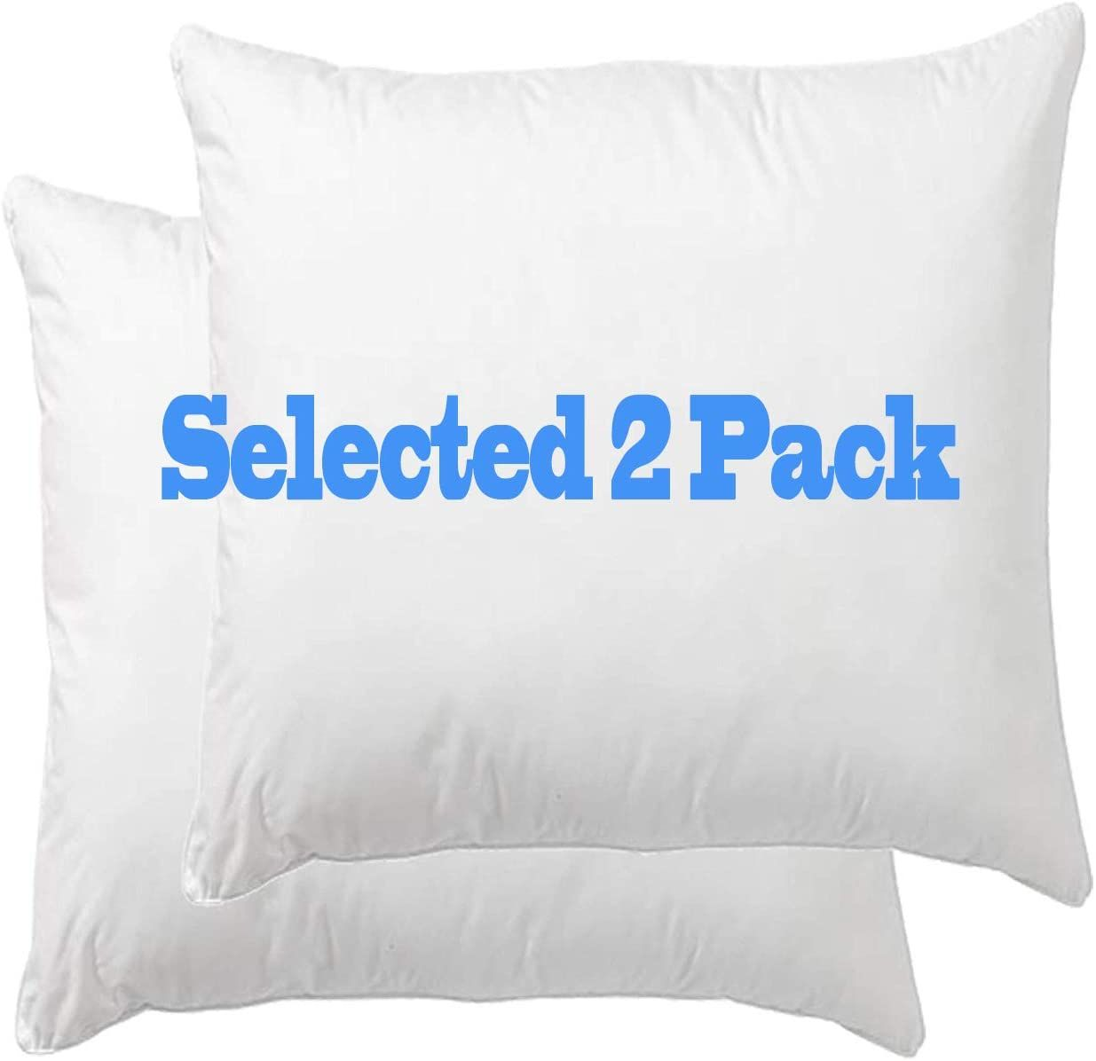 Amazon Com Danmitex Set Of 2 20x20 Down Feather Throw Pillow Inserts Cotton Fabric Home Kitchen Throw Pillow Inserts Feather Pillows Oblong Throw Pillow Pillow inserts 20 x 20