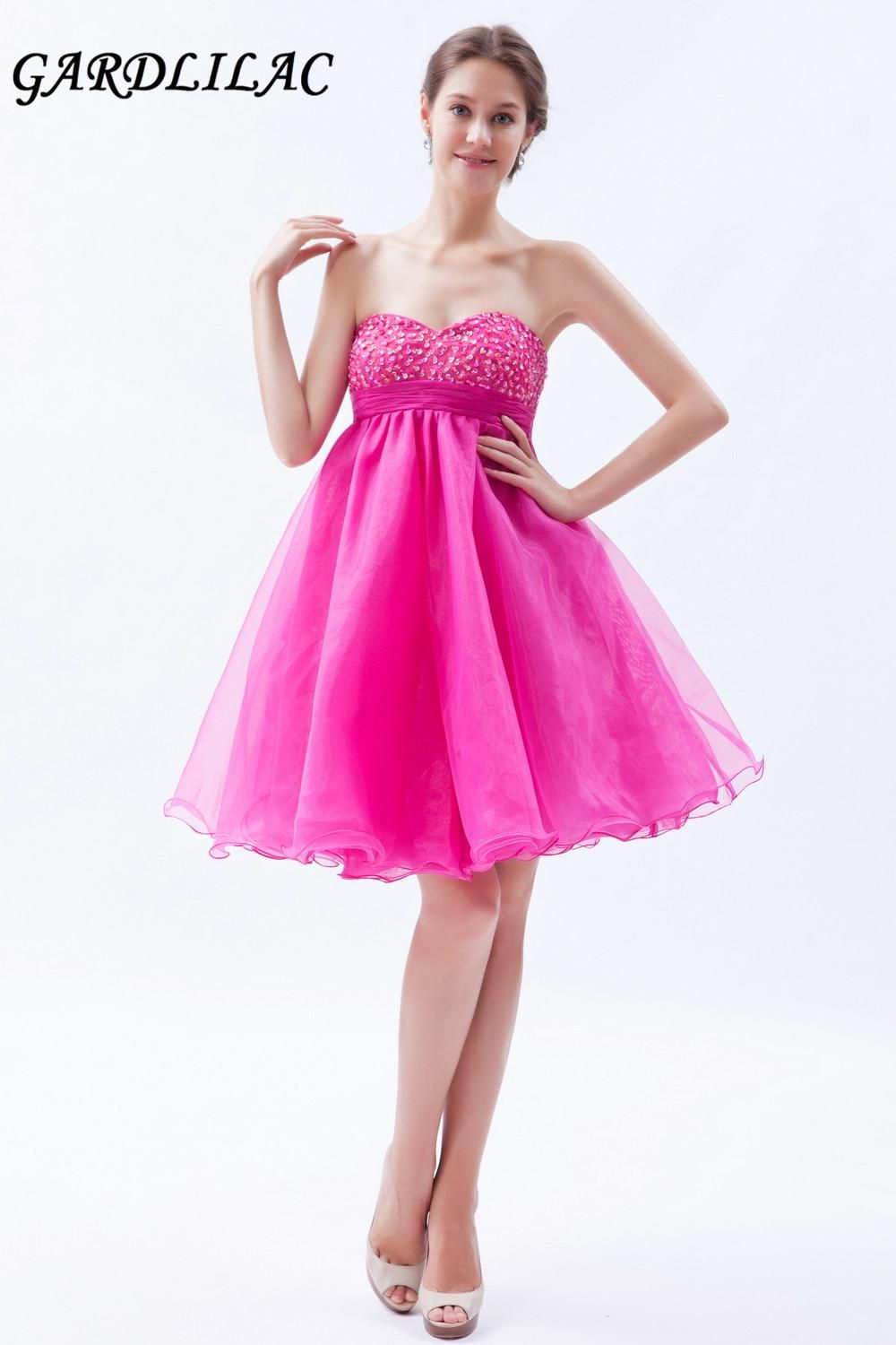 real picture ball gown rose red short cocktail dresses evening