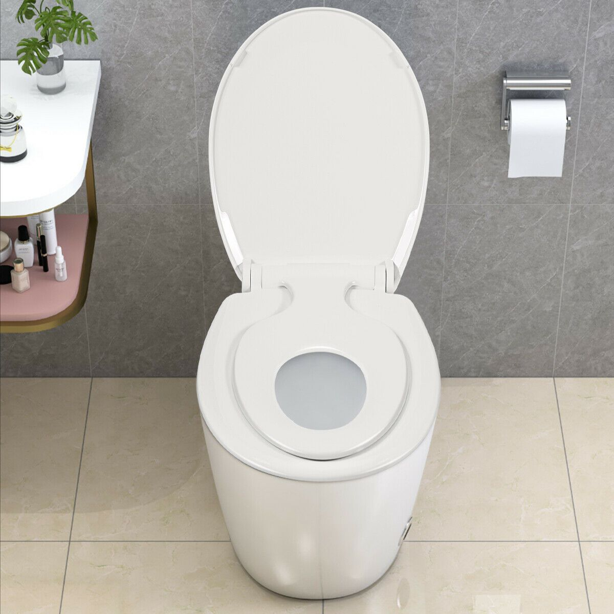 Toddlers Adult Round Toilet Seat With Built In Potty In 2020