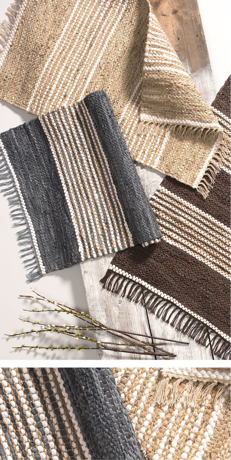 Taj Recycled Leather Jute Rugs With A Choice Of 2 Sizes And 3 Natural Colours They Subtlely Fit In Any Room Hand Patterned Carpet Recycled Leather Jute Rug