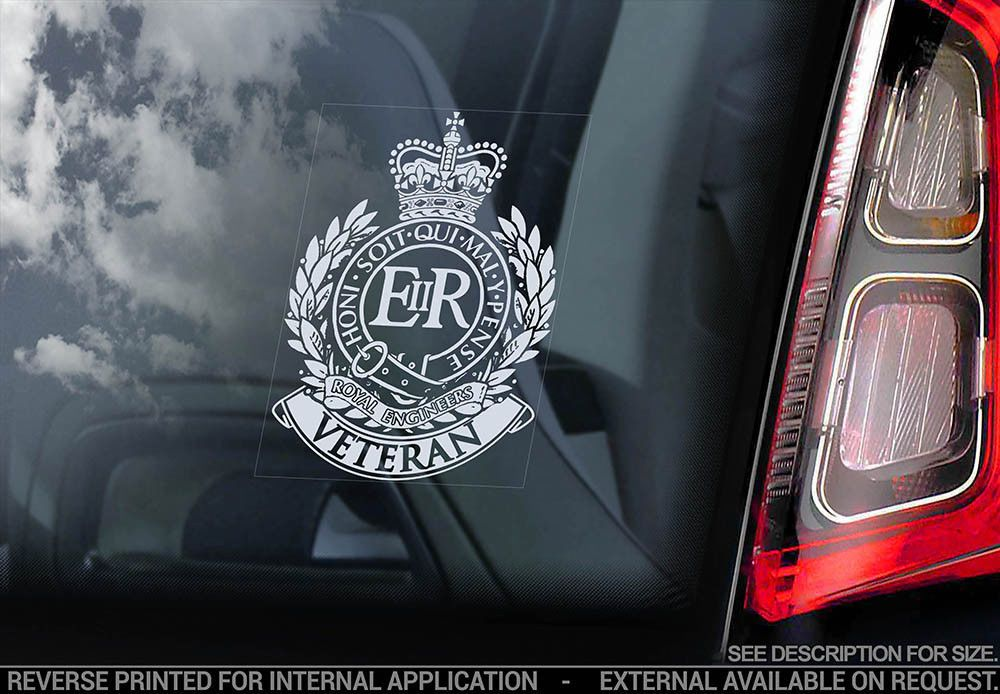 "HM ARMED FORCES WINDOW STICKER  PRINTED IN REVERSE 4/"" TALL"
