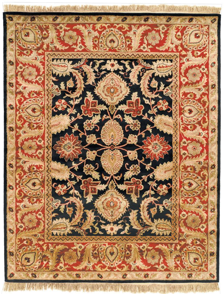 Safavieh Classic Cl244c Black Burgundy Area Rug Tufted Rug Area Rugs Wool Area Rugs