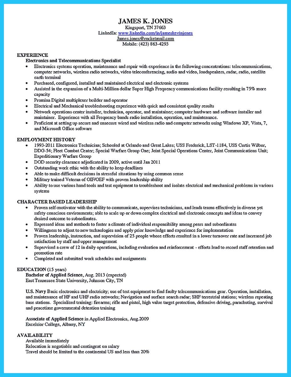 Cool How To Make Cable Technician Resume That Is Really Perfect, Check More  At Http