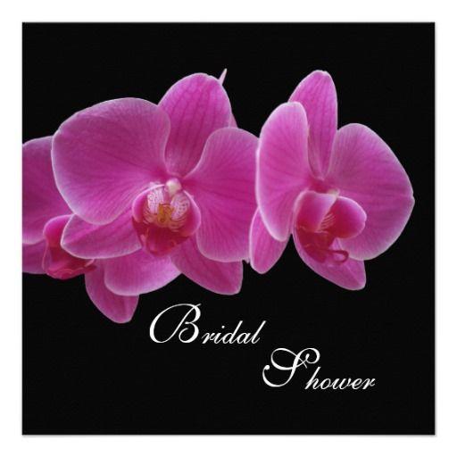 Bridal Shower Invitation -- Orchids