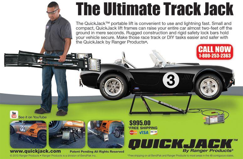QuickJack™ - Ranger Quick Jack - Race Car Pit Lift - Motorsports
