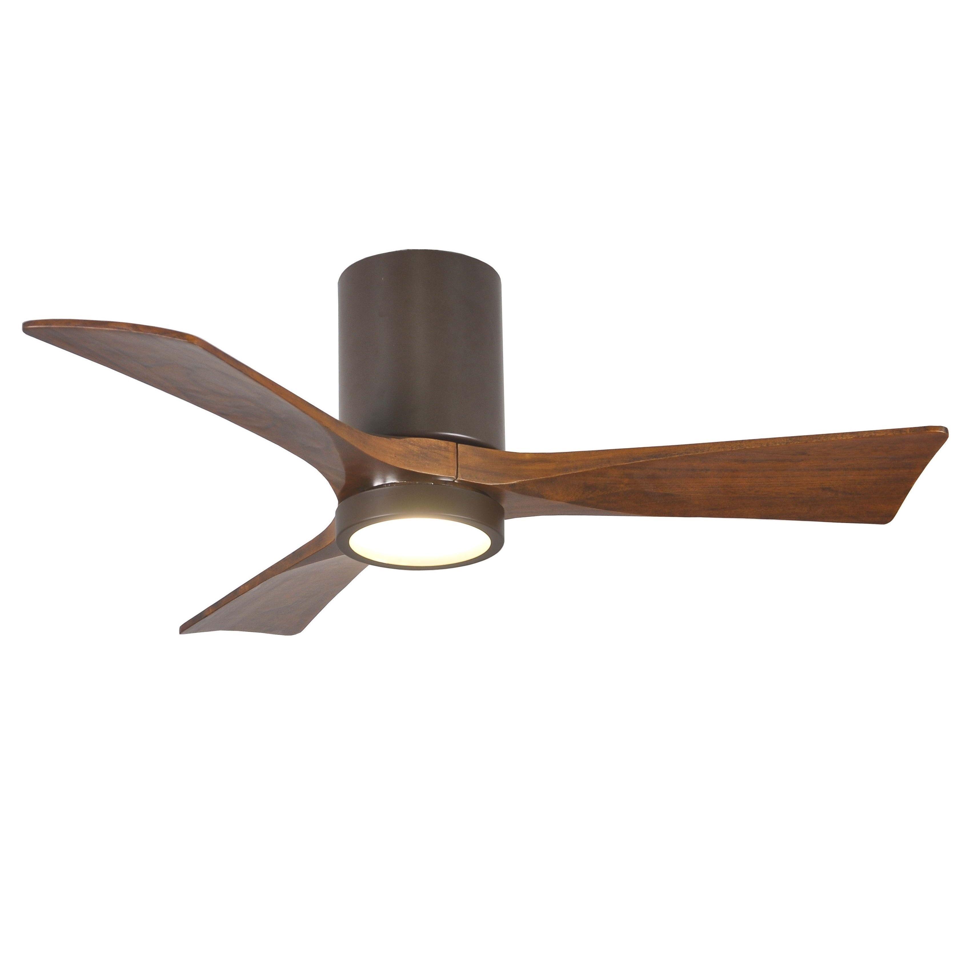 Matthew's Fan Company Irene Walnut-toned 3-blade 42-inch Textured ...