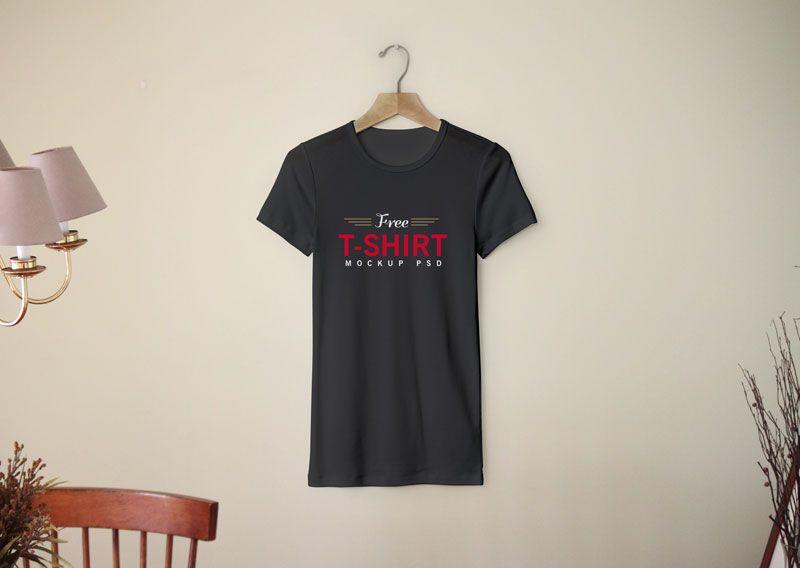 Download Free Blank Half Sleeves T Shirt Mockup Psd Template
