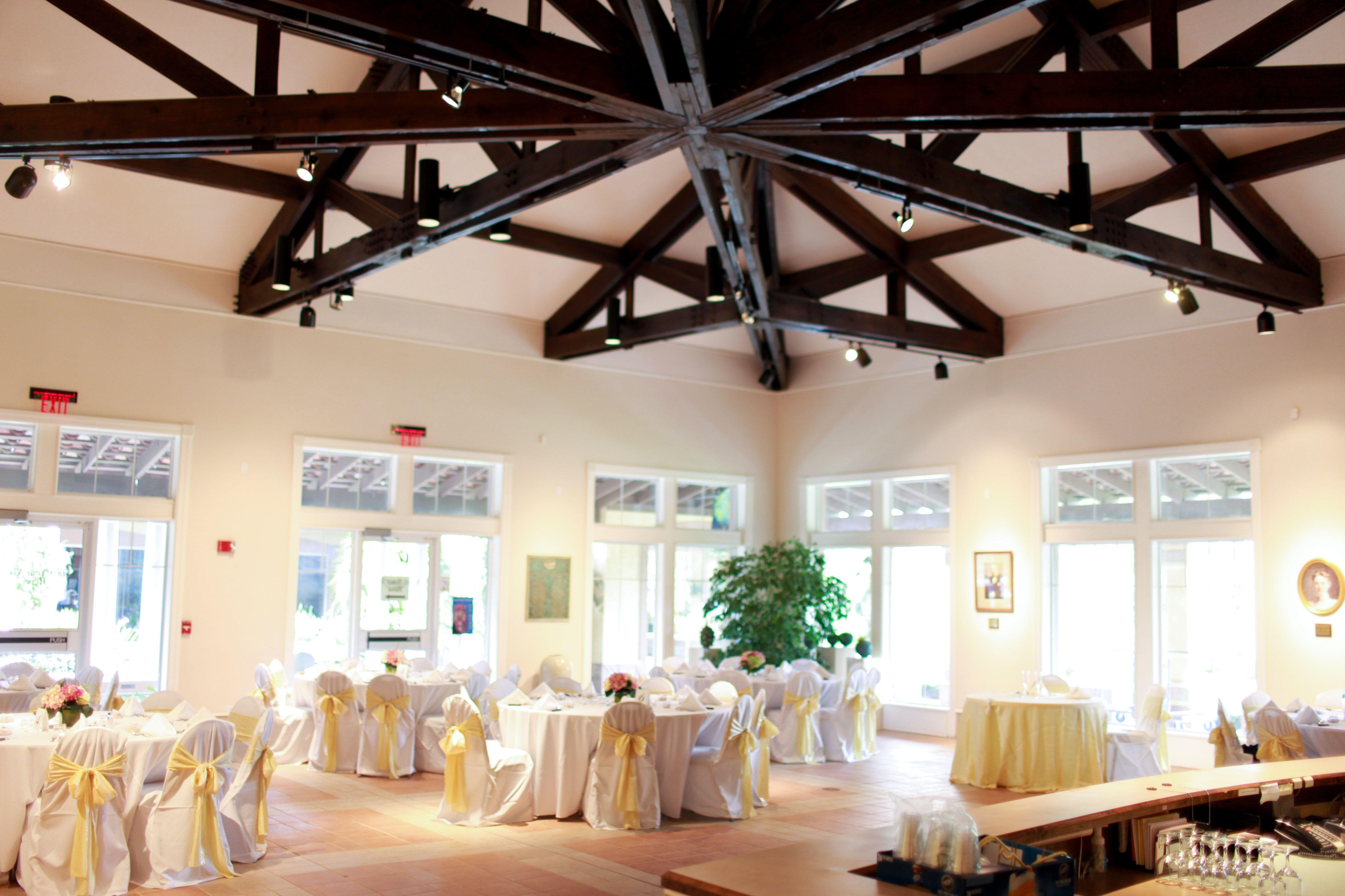 Bok tower gardens visitor center as a wedding reception
