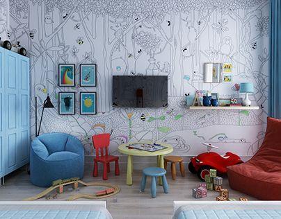 "Check out new work on my @Behance portfolio: ""Scandinavian style. Children's room"" http://be.net/gallery/40775729/Scandinavian-style-Childrens-room"