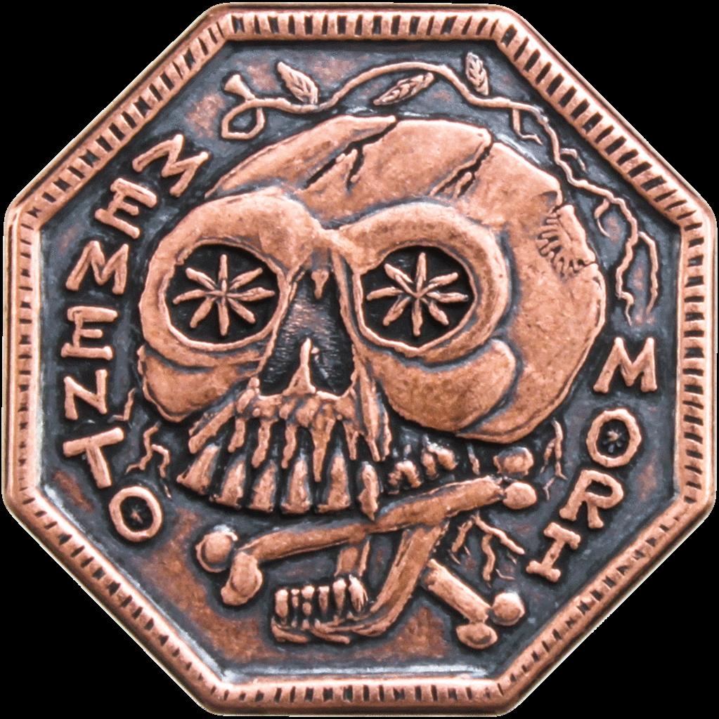 Memento Mori Memento Vivere Reminder Coin Tattoo Ideas Memento