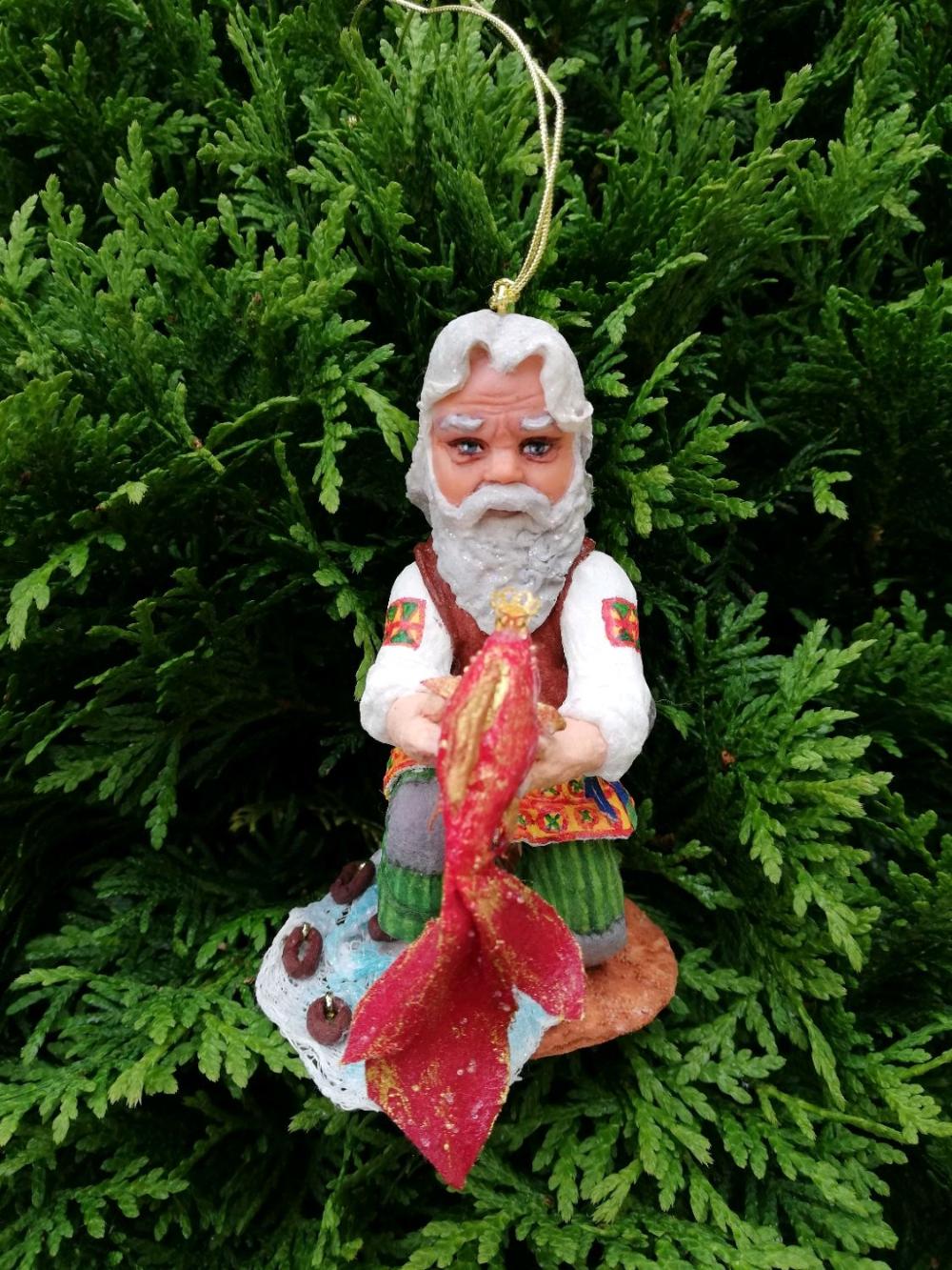 Елочная ватная игрушка, Старик и Золотая рыбка – заказать ...