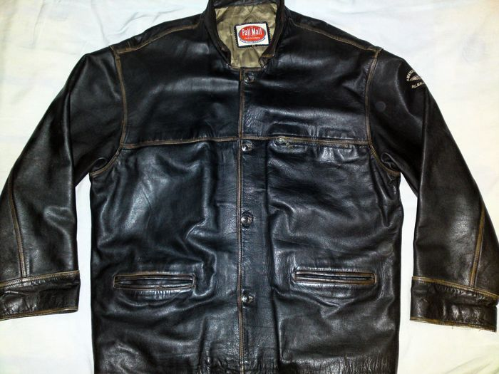 4b670e96b93 Pall Mall Export / Amerikaans klassiek - leren jas Mannen Vintage zwart  lederen jas Mod/