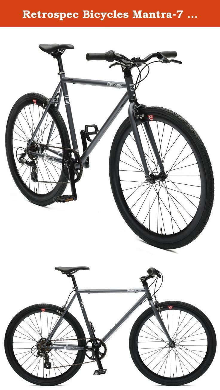 Retrospec Bicycles Mantra 7 Urban Commuter Bicycle Graphite Black