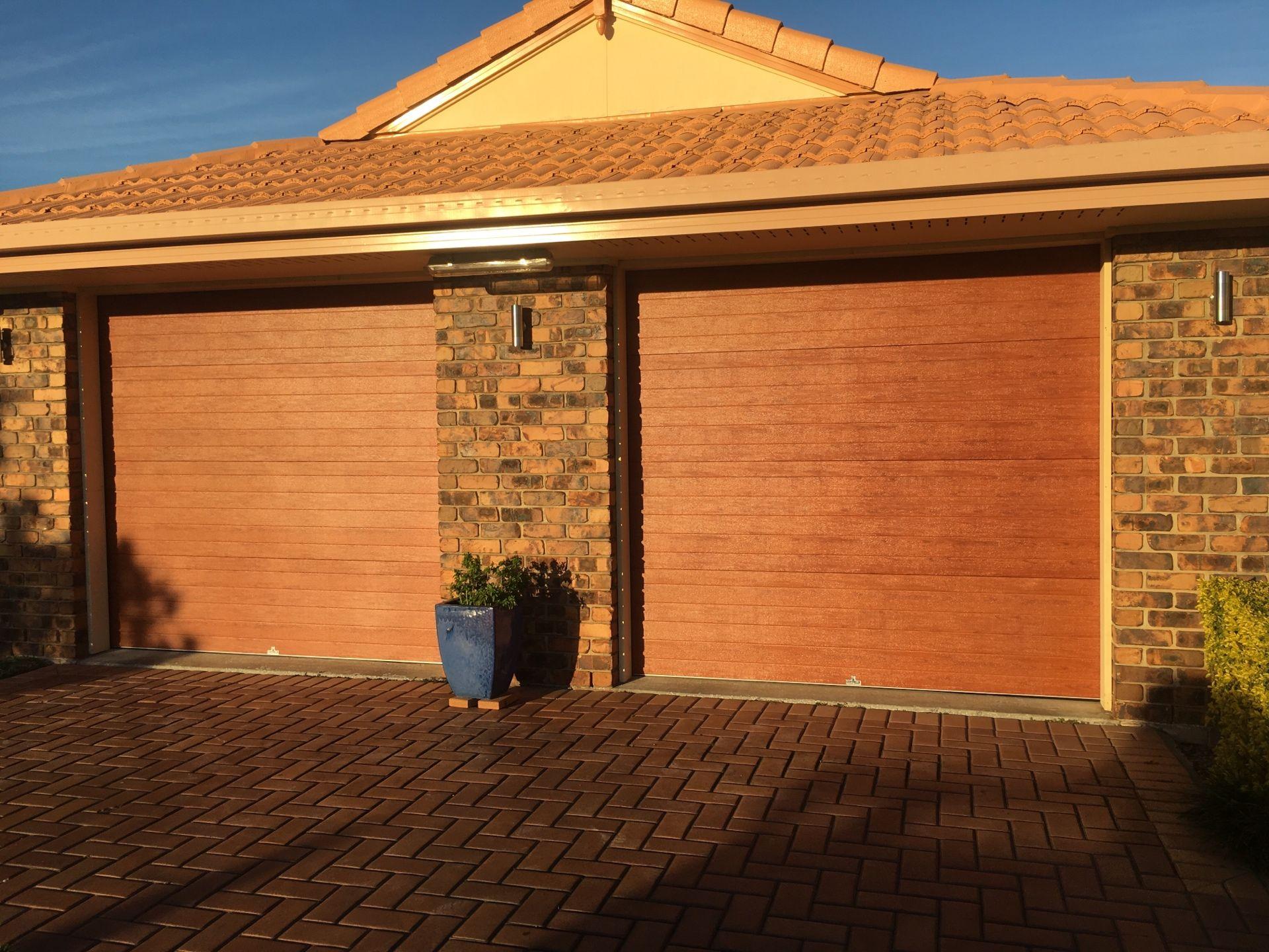 Centurion Sectional Door. Mediterranean Red Gum & Centurion Sectional Door. Mediterranean Red Gum | Garage Doors ...