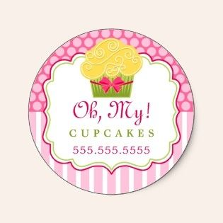 Whimsical cupcake bakery stickers baking labels pinterest shop whimsical cupcake bakery stickers created by socialitedesigns reheart Images