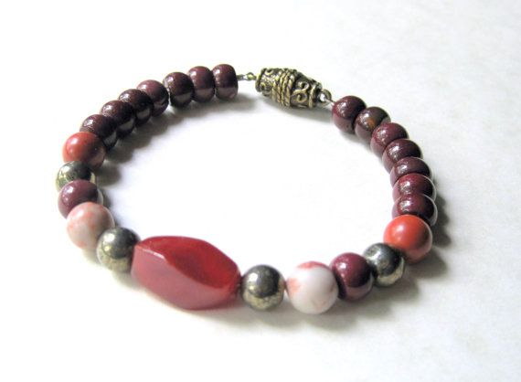 Mens+Stone+Bracelet++Jasper+and+Pyrite+by+JemsbyJBandCompany