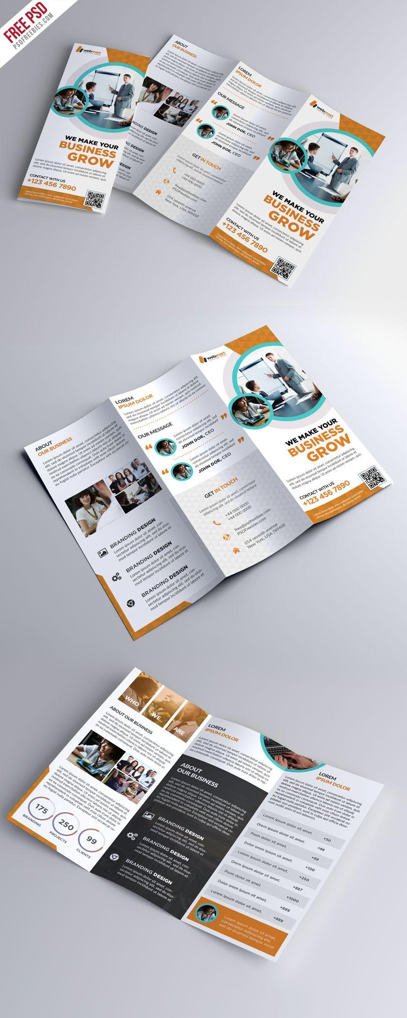 Trifold Brochure Template Free PSD | PSD Print Template | Pinterest ...