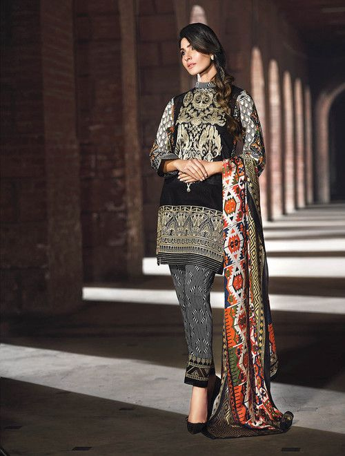 d9c2faeb7ba1 Gul Ahmed 3 Piece Stitched Embroidered Trencia Satin Silk Dress SS-117 -  Black - libasco.com  gulahmed  gulahmeddresses  gulahmedcollection   gulahmed2017 ...
