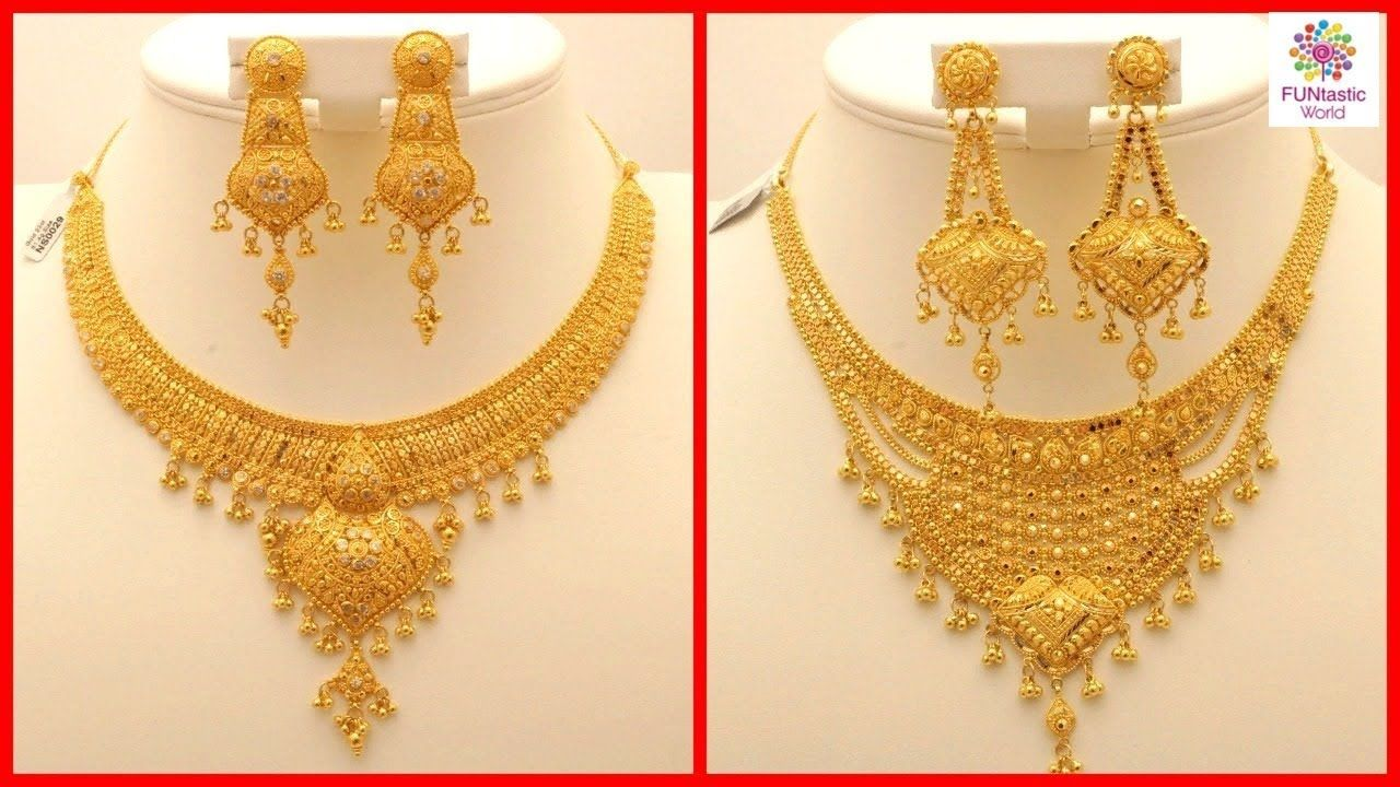 Latest Stylish 22 Carat Gold Necklace For Girls Brides American Indi Gold Necklace Designs Gold Chain Design Necklace Designs