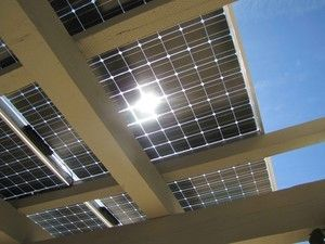 Solar Panels Work Beautifully As A Patio Cover