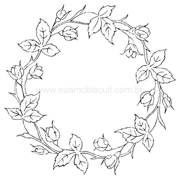Famosos Embroidery Floral Wreath Pattern, part 4 ::ARTESANATO VIRTUAL  LZ47