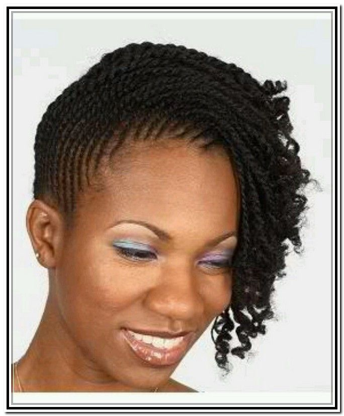 Stupendous Two Strand Twist Updo Two Strand Twists And Twist Updo On Pinterest Short Hairstyles For Black Women Fulllsitofus