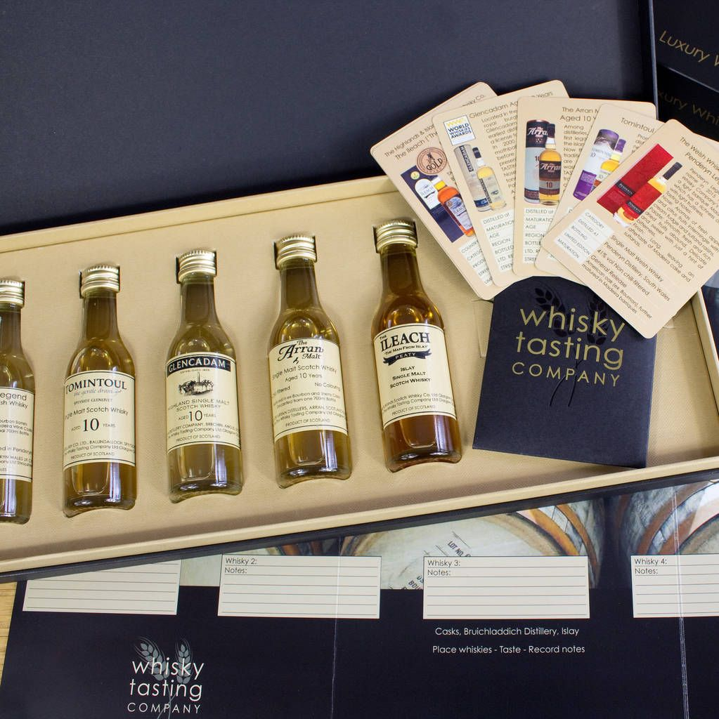 A beautifully presented whisky gift set with four scottish
