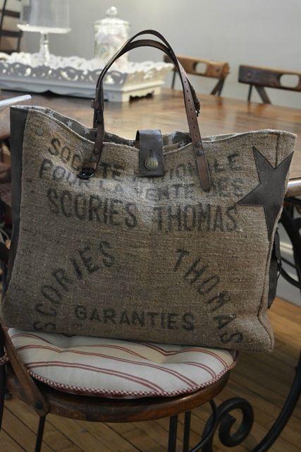 it bag vintage l 39 atelier de tralaline sacs toile de jute pinterest toile de jute sac. Black Bedroom Furniture Sets. Home Design Ideas