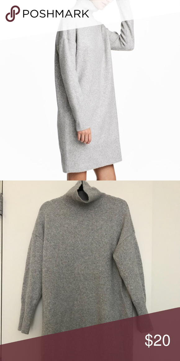 H M Oversized Jumperdress Really Soft Material Hm Turtle Neck