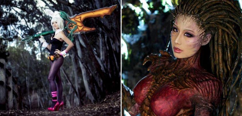 Perfeição de Cosplays \o/ \o/ Você conhece esses personagens? Conta pra gente! #StarCraft #LeagueofLegends