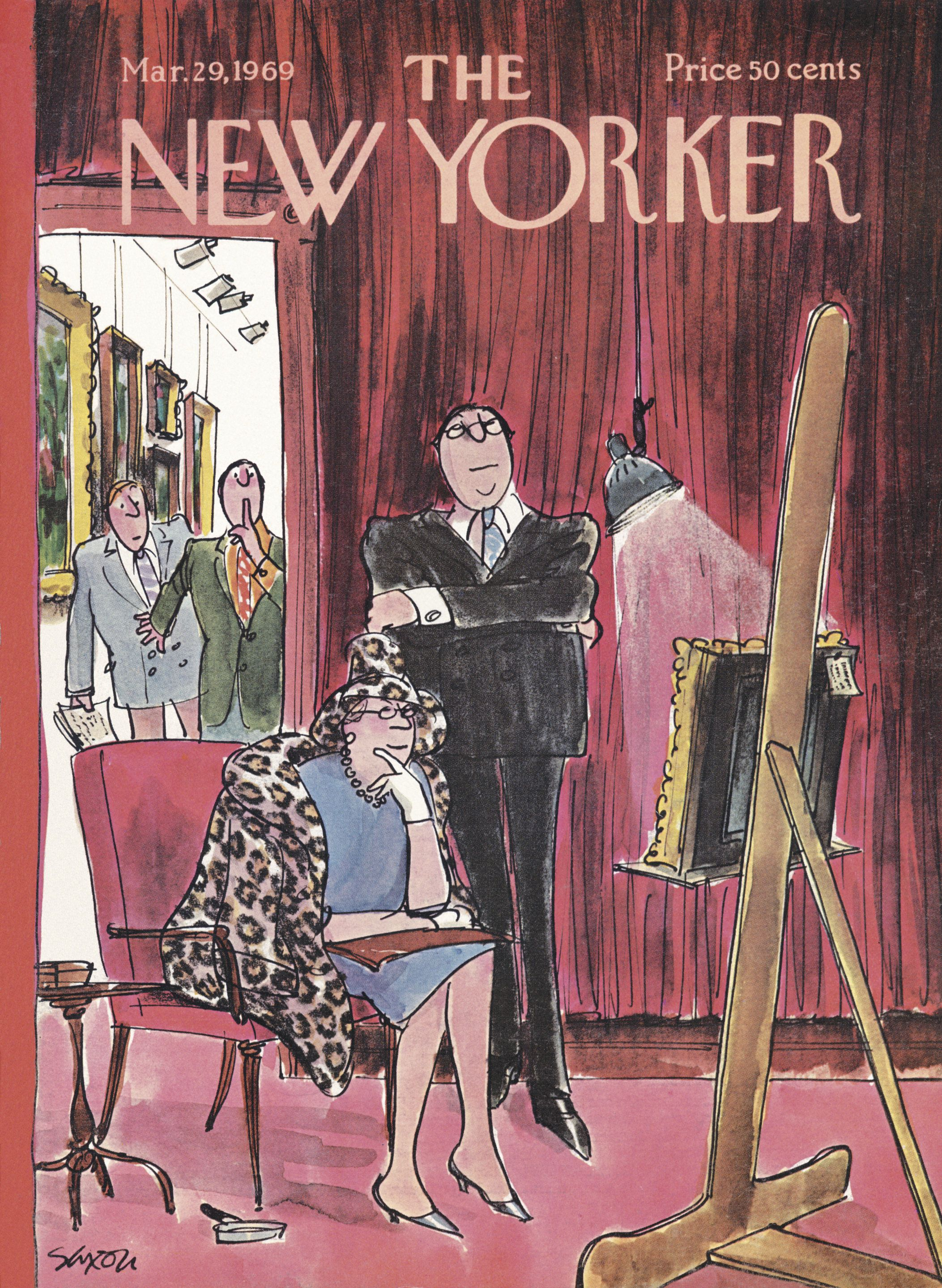 2b025a860 The New Yorker - Saturday, March 29, 1969 - Issue # 2302 - Vol. 45 - N° 6 -  Cover by : Charles Saxon