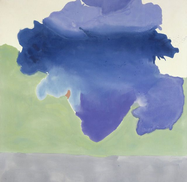 Preposition In Learn In Marathi All Complate: Helen Frankenthaler, The Bay, 1963. Acrylic On Canvas. 80
