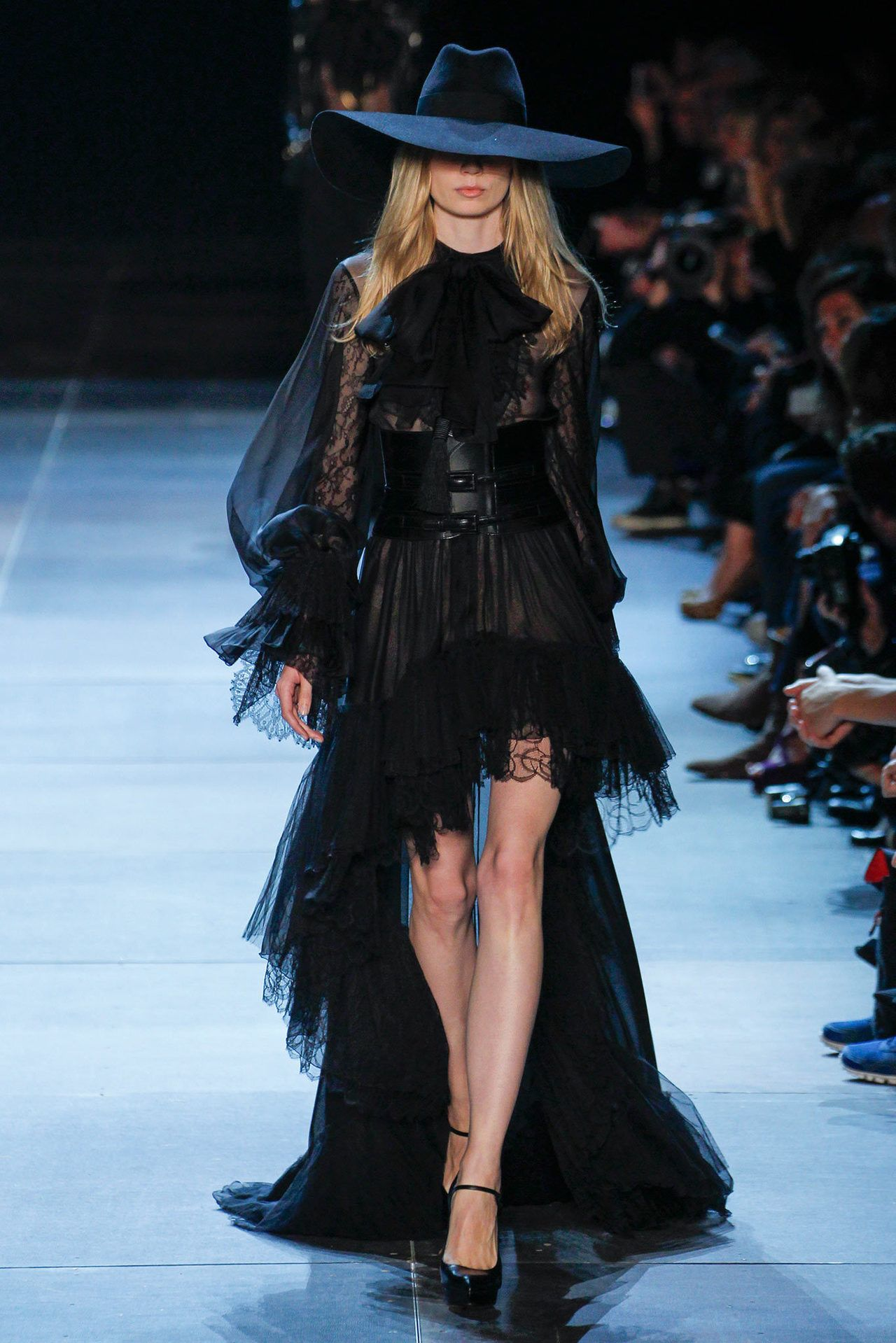 f7b49239 The Witching Hour of Saint Laurent Post-Dior, Hedi Slimane's first  collection at Saint Laurent was dark and edgy, evoking an air of debonair  sensuality.