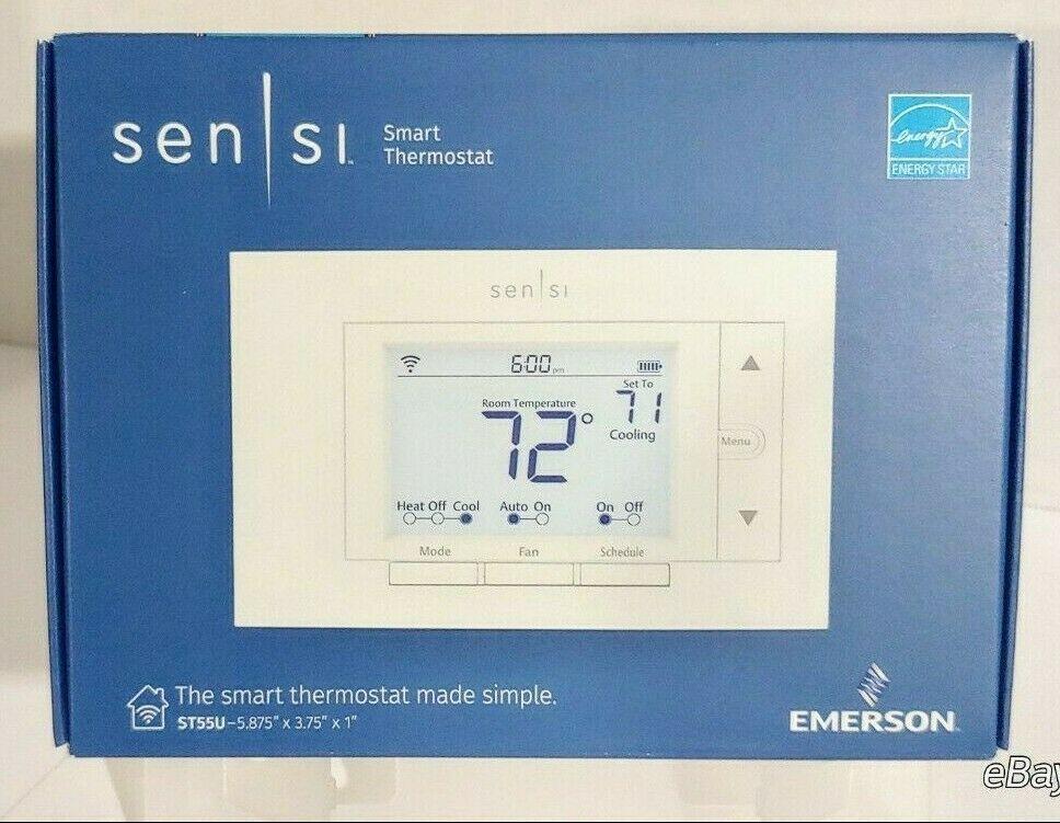 Emerson Sensi St55u Wi Fi Thermostat Smart Home Easy Install