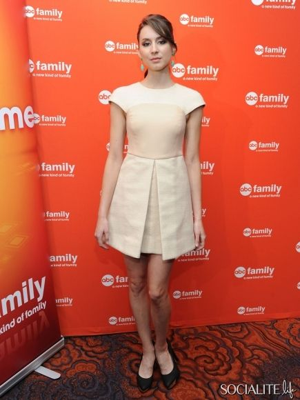 Actress Troian Bellisario attends the 2012 ABC Family Upfront at the Mandarin Oriental Hotel