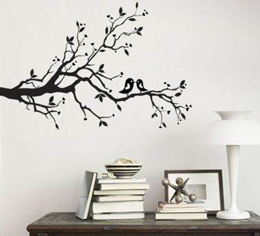 wall art. always kiss me goodnight romantic wall art sticker wall