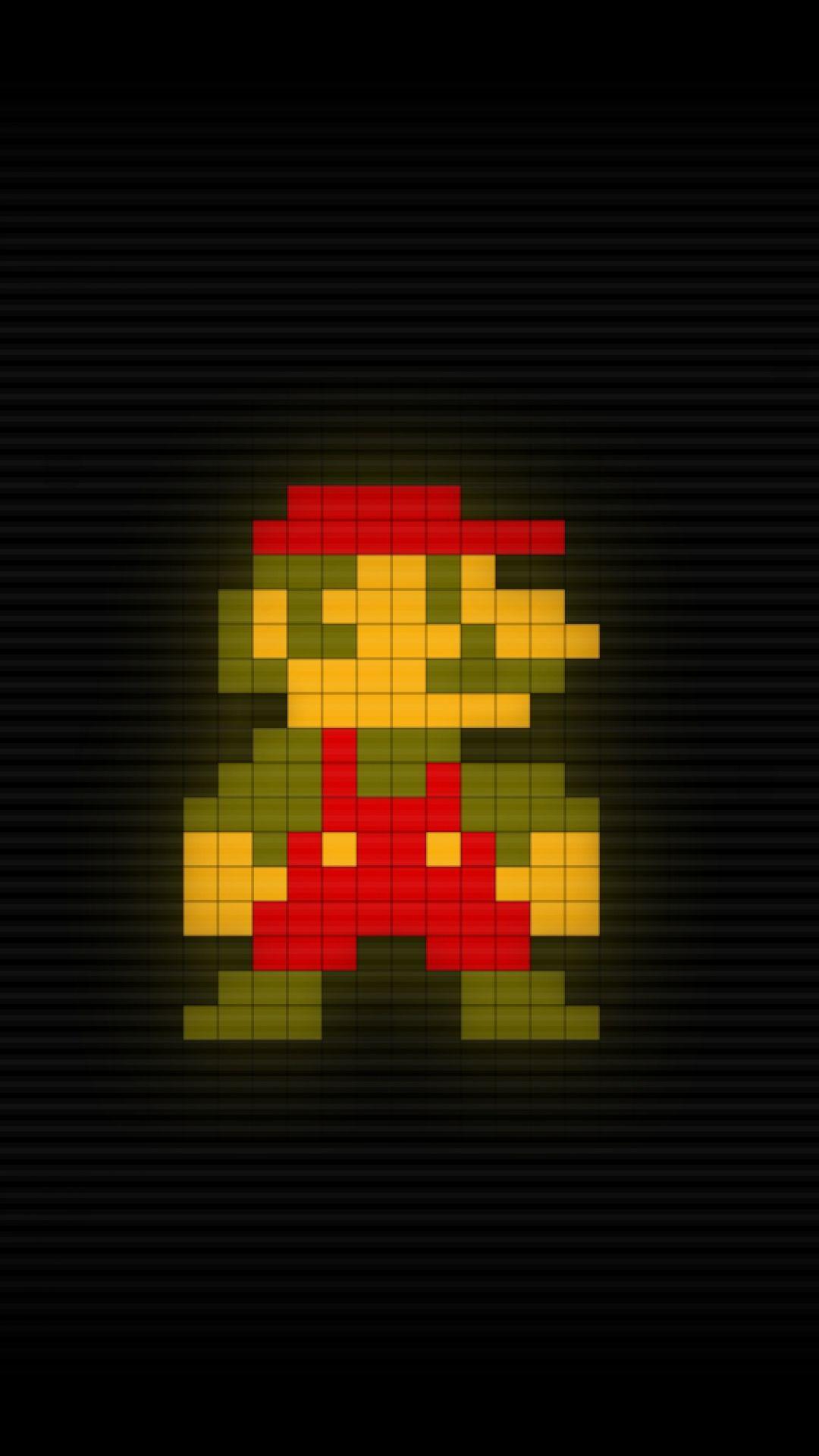Hd Pixel Art Super Mario Bros Wallpaper For Mobile 1080x1920 Jpeg Image 1080 1920 Pixels Scaled 31 Character Wallpaper Mario Pixel Art