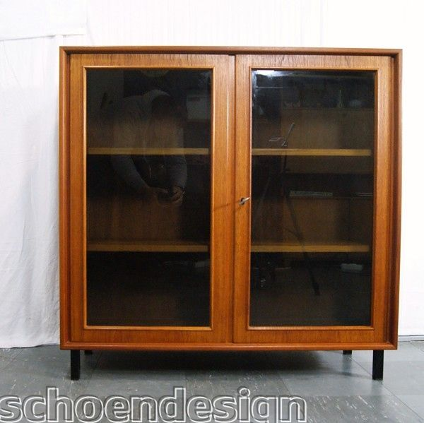 TEAK VITRINE VITRINENSCHRANK CHEST RT-MÖBEL DANISH DESIGN ...
