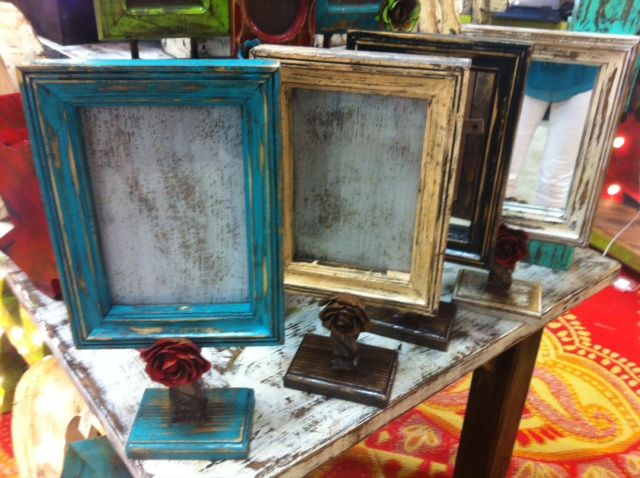 Handmade Rustic Cottage Look Mirror or Frame on Stand $48.95 www ...