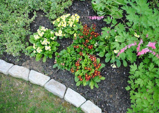Beeteinfassung Ideen beeteinfassung stein blumen pflanzen blumenbeet umrandung granit