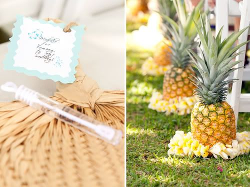 Pineles As Decor Yellow Flowers At The Base Www Volusiacountyweddingflowers Callaraesflevents Hawaii Weddingdestination